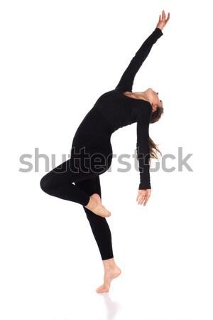 Güzel kadın dansçı ince genç modern Stok fotoğraf © handmademedia