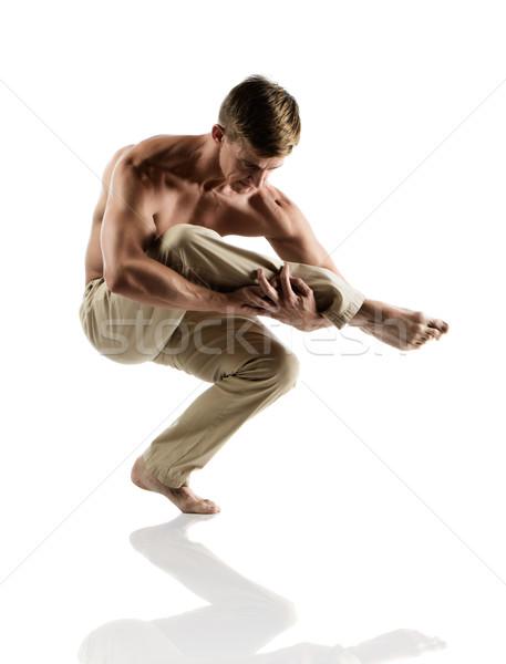 Kafkas erkek dansçı yetişkin bej Stok fotoğraf © handmademedia
