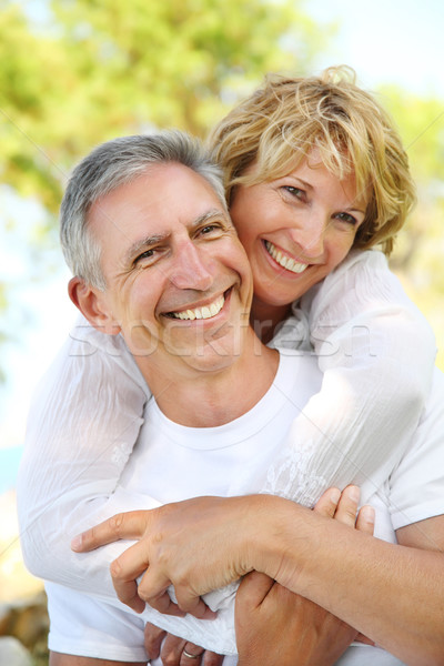 Mature couple smiling Stock photo © hannamonika