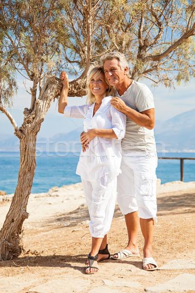 Happy mature couple outdoors Stock photo © hannamonika