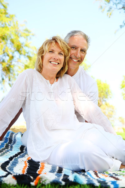 Maturité couple souriant accent femme famille Photo stock © hannamonika