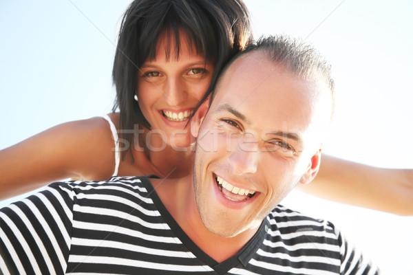 Sorridente praia menina sorrir Foto stock © hannamonika