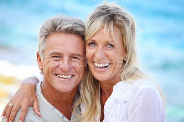 Feliz maduro casal ao ar livre família cara Foto stock © hannamonika