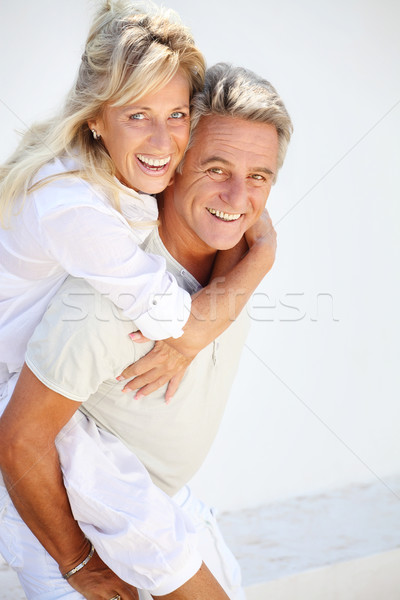 Feliz maduro casal cara amor homem Foto stock © hannamonika