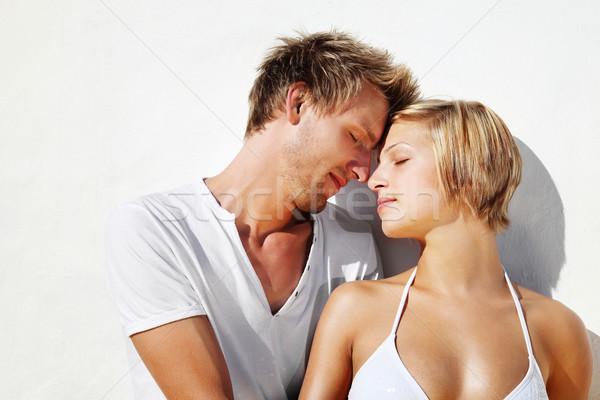 Amour permanent blanche visage femmes Photo stock © hannamonika