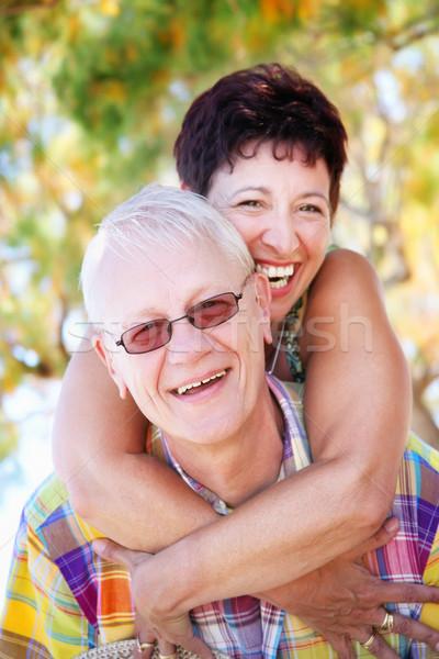 Maturité couple souriant femme famille Photo stock © hannamonika