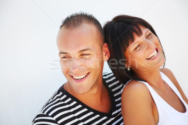 Portrait of a playful young couple in love Stock photo © hannamonika