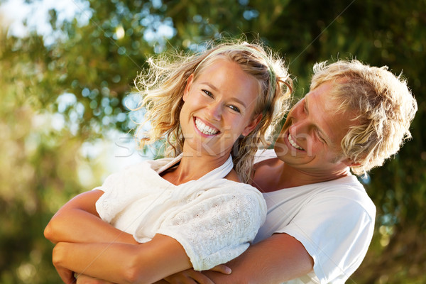 Happy young couple Stock photo © hannamonika