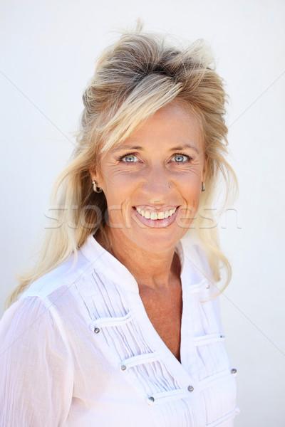 Bella donna matura donna donne felice occhi Foto d'archivio © hannamonika