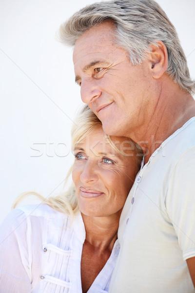 Feliz maduro casal menina cara amor Foto stock © hannamonika