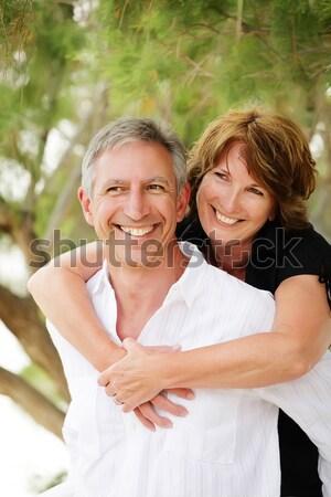 Jeunes heureux couple peu profond accent Photo stock © hannamonika