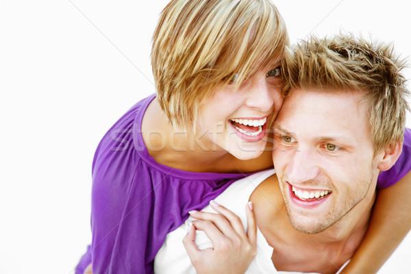 Sevmek beyaz kadın model Stok fotoğraf © hannamonika