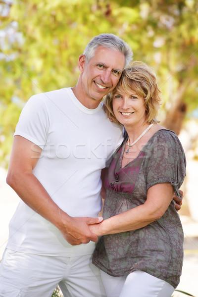 Maturité couple souriant accent femme Photo stock © hannamonika