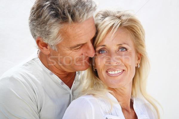 Heureux maturité couple fille visage amour Photo stock © hannamonika