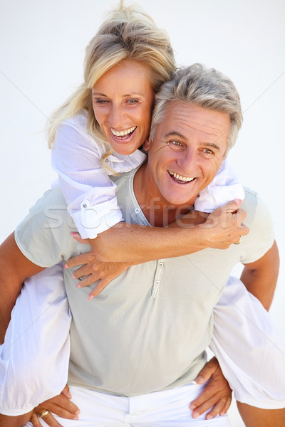 Foto stock: Feliz · maduro · casal · cara · amor · homem