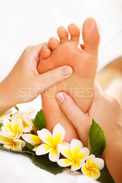 Stock photo: Exotic foot massage