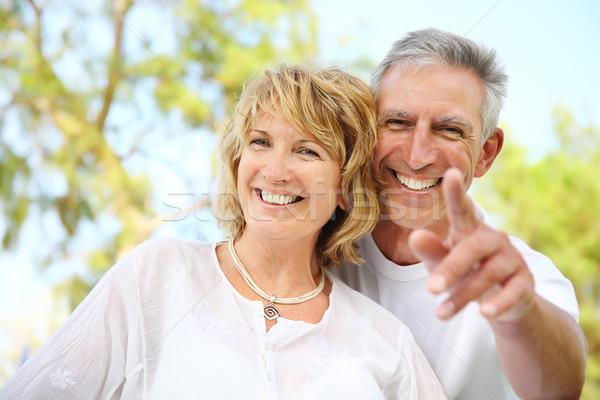 Stockfoto: Volwassen · paar · glimlachend · portret · familie
