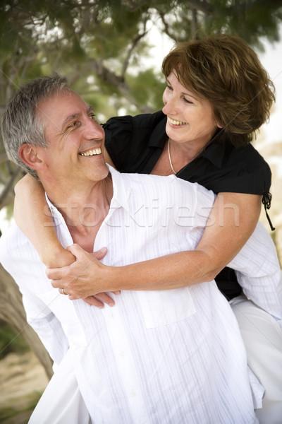 Belle maturité couple famille sourire Photo stock © hannamonika