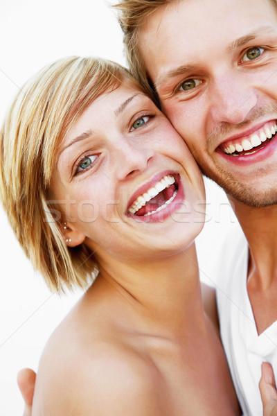 Amor pie blanco cara mujeres Foto stock © hannamonika