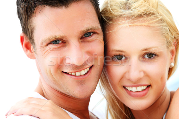 Young happy couple Stock photo © hannamonika