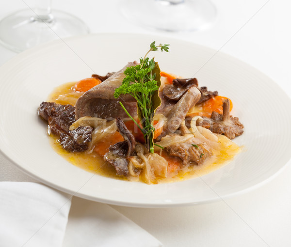 Photo plat champignons image sauce ragoût Photo stock © hansgeel