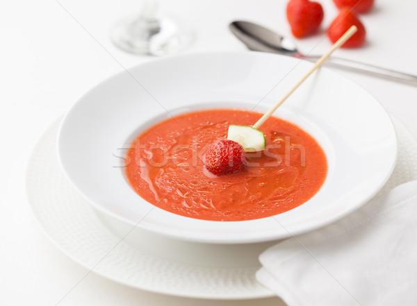 Fraise typique froid soupe Espagne cas Photo stock © hansgeel