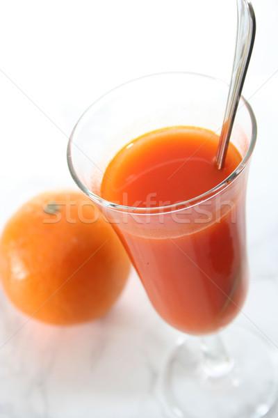 Fruits frais jus orange verre fraîches Photo stock © hansgeel