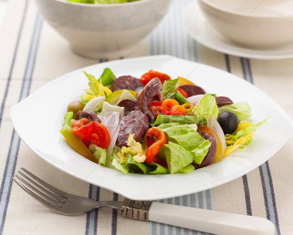 Vegyes saláta saláta paprika paradicsom hagyma Stock fotó © hansgeel