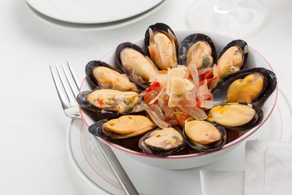 Cooked mussels Stock photo © hansgeel