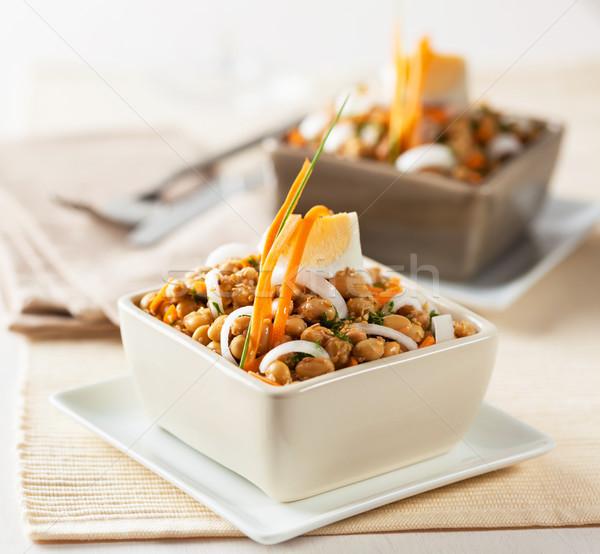 Szója bab saláta bab búza hagyma Stock fotó © hansgeel