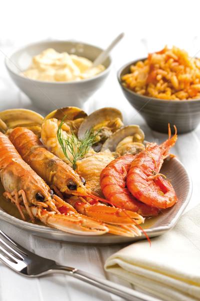 морепродуктов блюдо рыбы продовольствие фото Сток-фото © hansgeel