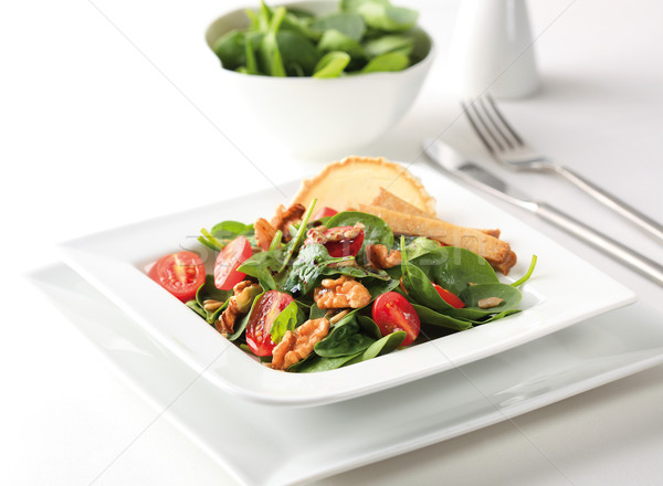 Spenót saláta koktélparadicsom búza cseresznye stock Stock fotó © hansgeel