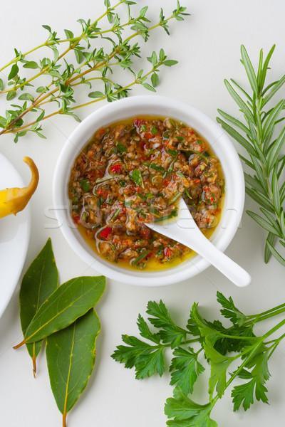 Chimichurri sauce Stock photo © hansgeel