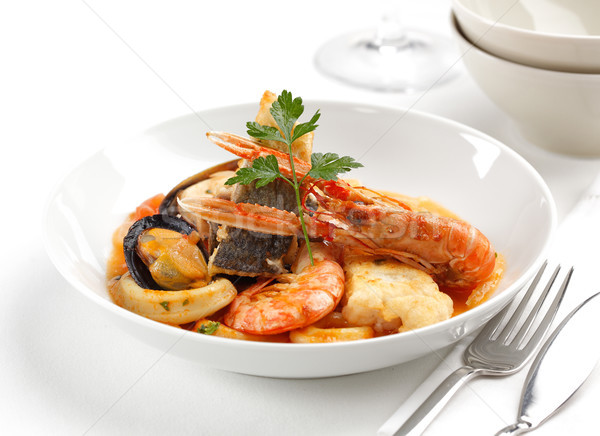 Mixed seafood dish Stock photo © hansgeel