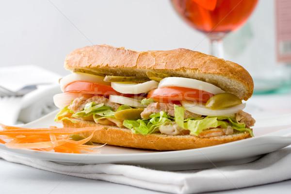 Egészséges szendvics finom zöldségek étel friss Stock fotó © hansgeel