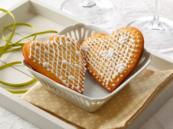 Amour coeur cookies saint valentin Photo stock © hansgeel