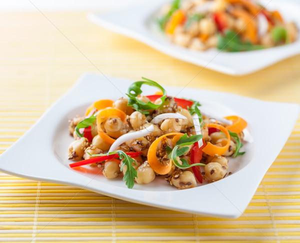Chickpea salad Stock photo © hansgeel