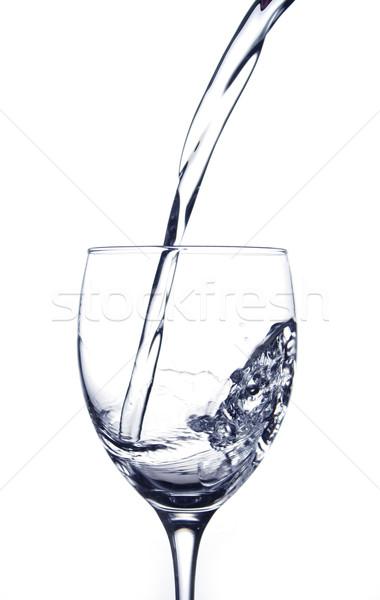 Stock fotó: áramló · víz · üveg · fehér · természet · kék