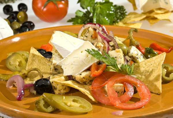 Cheese dish Mexican style Stock photo © hanusst