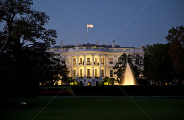 Casa bianca notte Washington DC casa costruzione città Foto d'archivio © hanusst