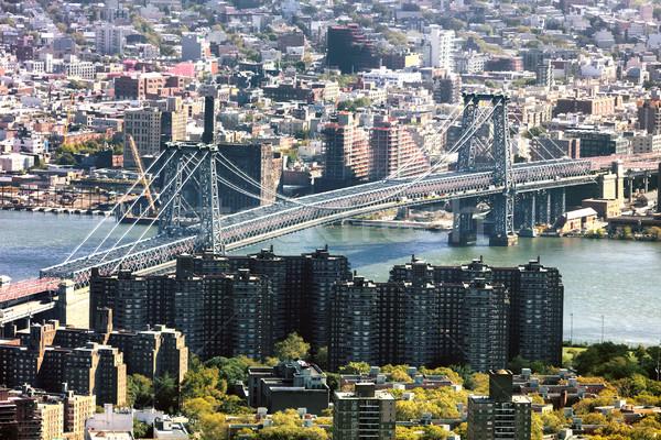 Stockfoto: Nieuwe · brug · hemel · kantoor · gebouw · stad
