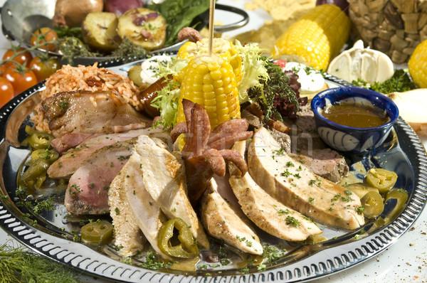 Сток-фото: жареное · мясо · мексиканских · стиль · различный · домой · здоровья