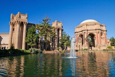 Palace of Fine Arts in San Francisco Stock photo © hanusst