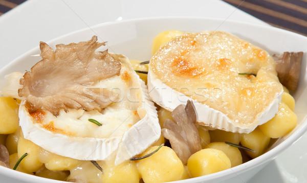 A la parrilla camembert queso setas italiano petróleo Foto stock © hanusst