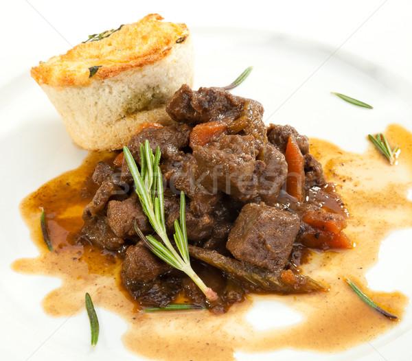 Venison ragout with dumpling Stock photo © hanusst