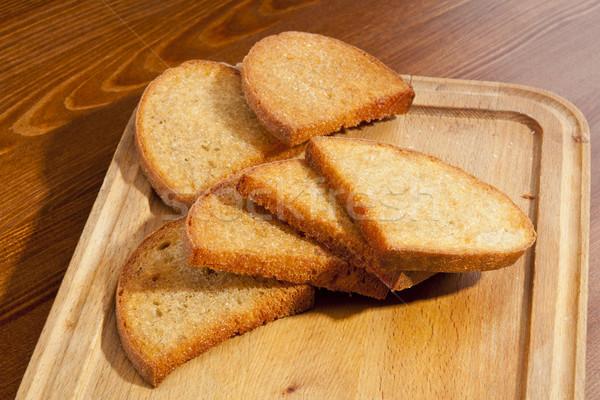 Crusty toasts Stock photo © hanusst