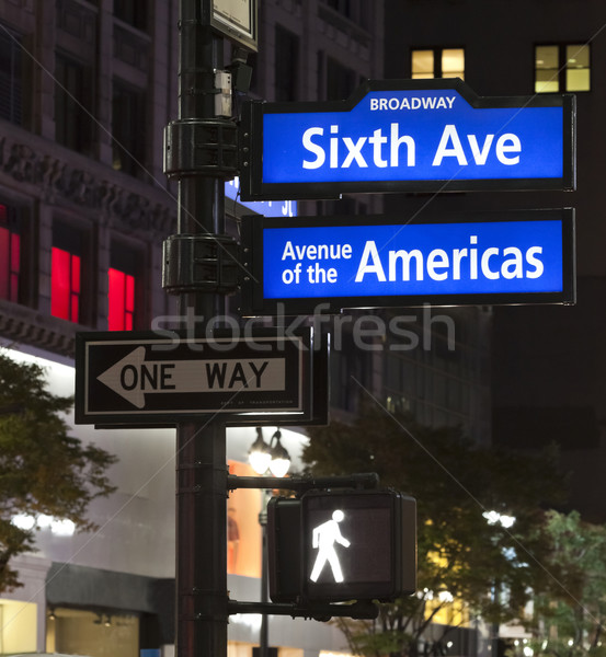 New York City, Corner of the Broadway and West 33th Street sign Stock photo © hanusst