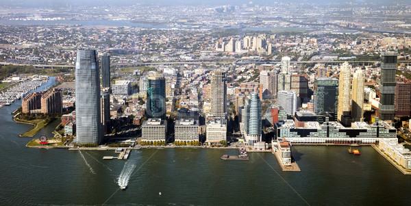 город Панорама Нью-Джерси строительство красоту синий Сток-фото © hanusst