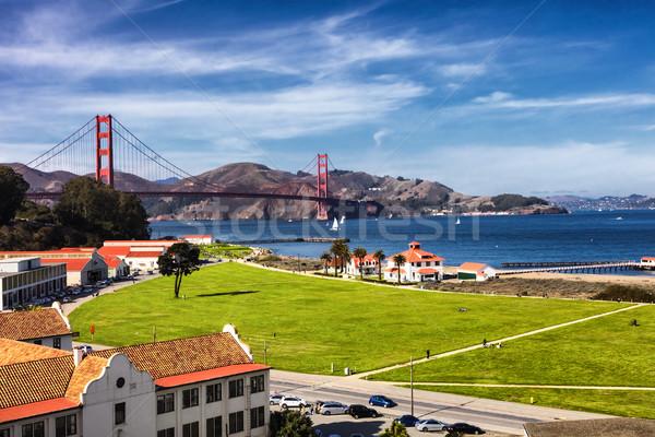 Golden Gate Bridge in San Fracisco City and Crissy Field Stock photo © hanusst