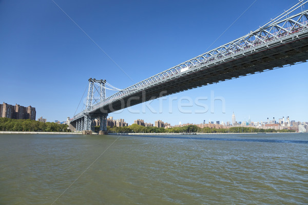New York Williamsburg Bridge Stock photo © hanusst